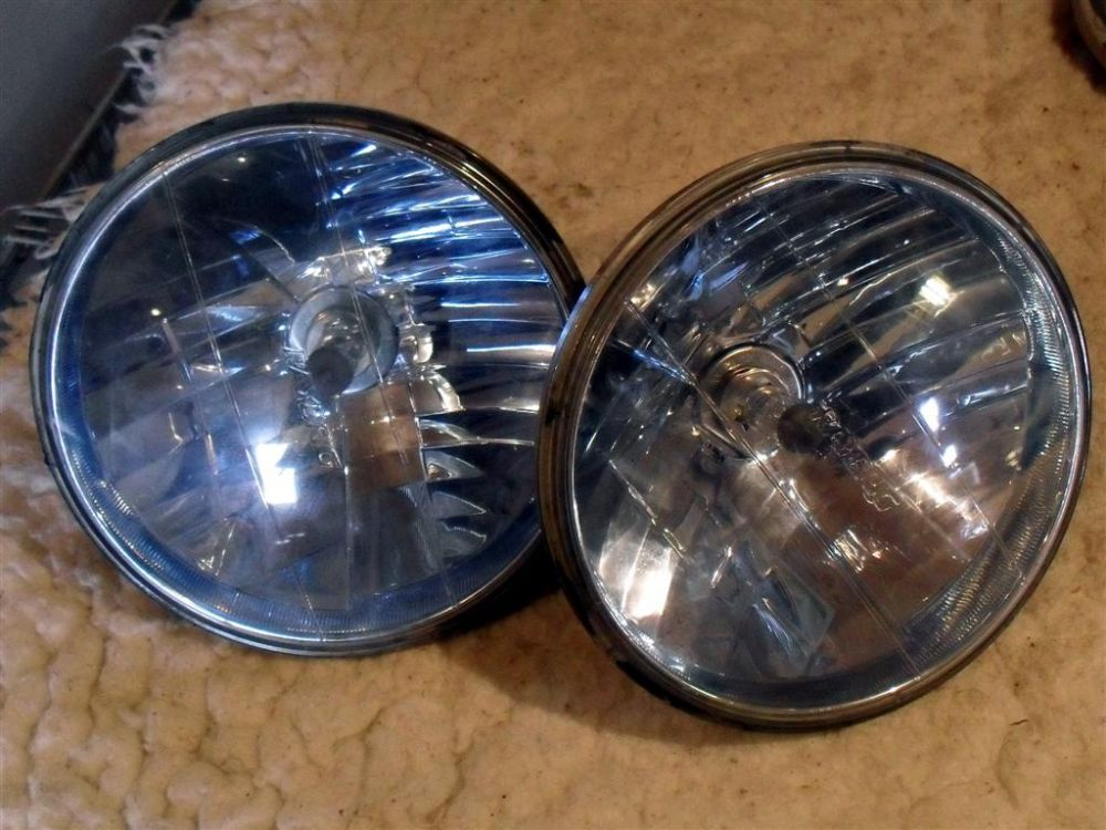 Headlights Raybrig 7 Halogen Pair Blue Used
